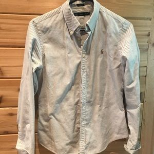Ralph Lauren blue and white button up